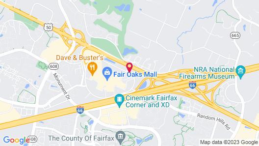 Fairfax Marriott at Fair Oaks Map