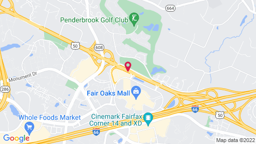 Extended Stay America Suites DC Fairfax Fair Oaks Mall Map