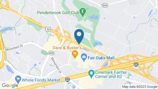 Extended Stay America - Washington DC-Fairfax-Fair Oaks Mall Map