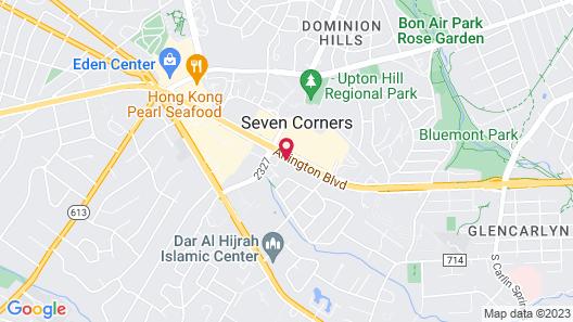 Comfort Inn Arlington Boulevard Map