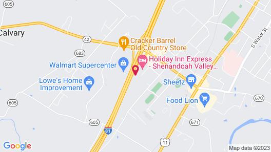 Hampton Inn & Suites Woodstock, VA Map