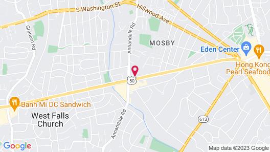 Motel 6 Falls Church, VA - Arlington Boulevard Map