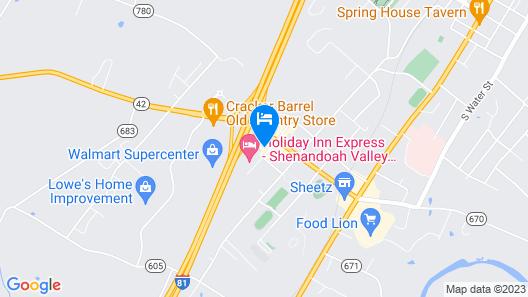Holiday Inn Express Woodstock-Shenandoah Valley, an IHG Hotel Map