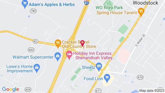 Comfort Inn Woodstock Shenandoah Map