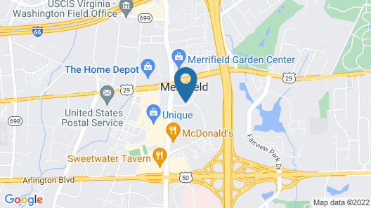 Homewood Suites by Hilton Falls Church - I-495 at Rt. 50 Map