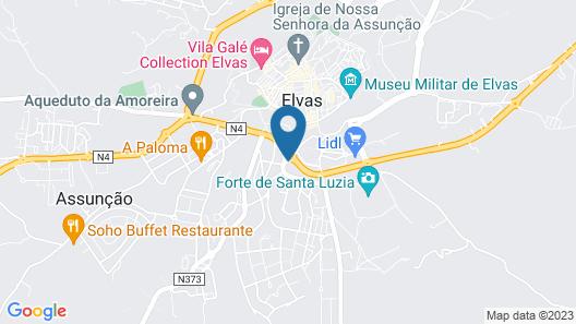 SL Hotel Santa Luzia - Elvas Map