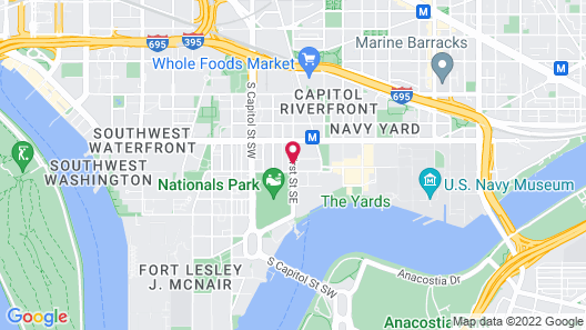 Hampton Inn & Suites Washington DC - Navy Yard Map