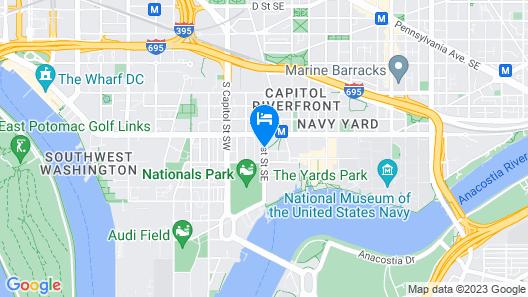 Residence Inn Washington Capitol Hill/Navy Yard Map