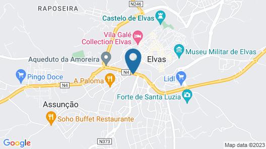 Dom Luis - Elvas Map