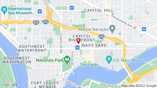 Courtyard by Marriott Washington Capitol Hill/Navy Yard Map