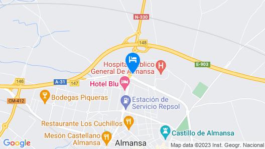 Encasa Hotel Almansa Map