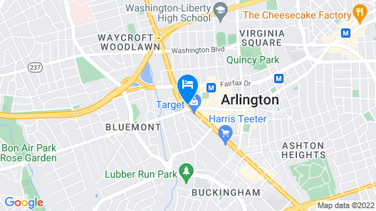 The Westin Arlington Gateway Map