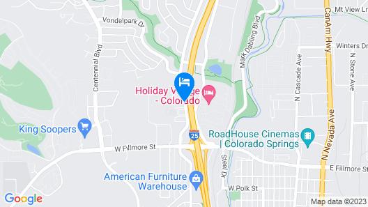 Motel 6 Colorado Springs, CO Map