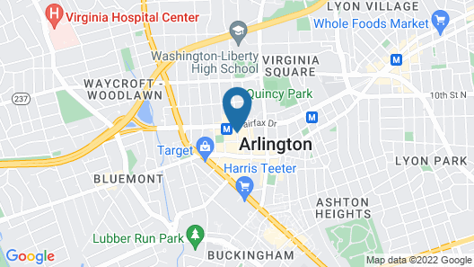 Hilton Arlington Map