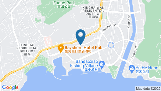 Bayshore Hotel Dalian Map