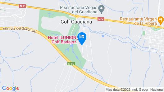 Hotel ILUNION Golf Badajoz Map