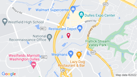 Extended Stay America Washington, D.C. - Chantilly- Airport Map