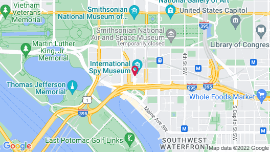 Hilton Washington DC National Mall The Wharf Map