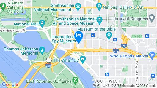 Hilton Washington DC National Mall Map