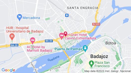 NH Gran Hotel Casino Extremadura Map