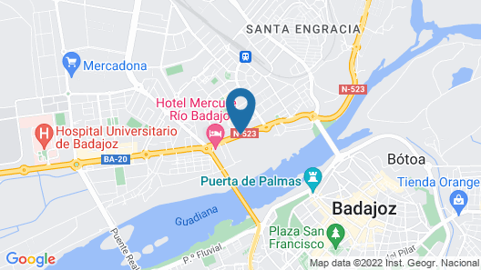 NH Gran Hotel Casino Extremadura Map