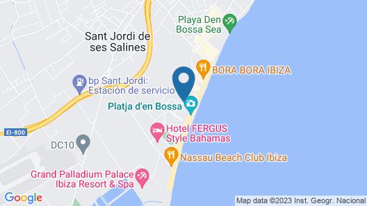 Ushuaia Ibiza Beach Hotel Map