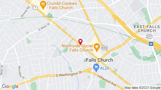 Inns of Virginia - Falls Church Map