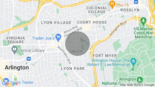 Arlington's Best New Construction Home Near Metro Map