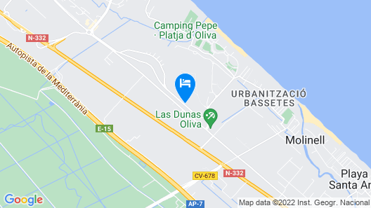 Buganvilla - Apartment With Shared Pool in Oliva Map