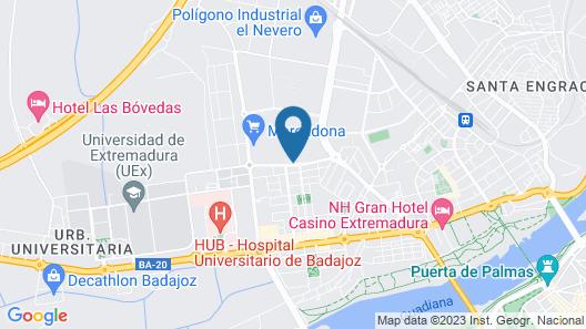 ApartHotel MM Badajoz Map