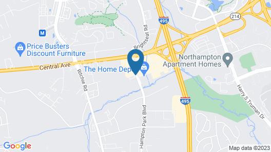 Motel 6 Capitol Heights, MD - Washington Map