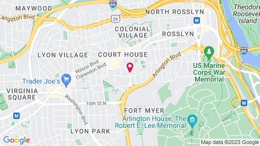 Hilton Garden Inn Arlington/Courthouse Plaza Map