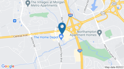 Country Inn & Suites by Radisson, Washington, D.C. East - Capitol Heights, MD Map