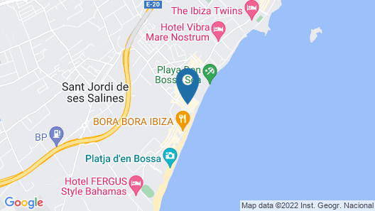 Santos Ibiza - Adults Only Map