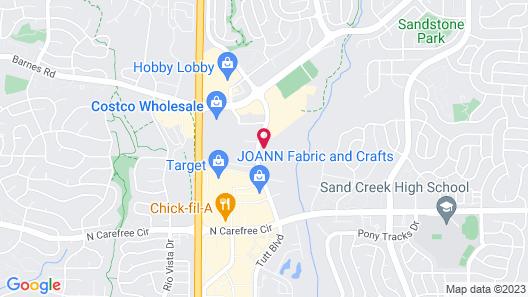 Fairfield Inn & Suites by Marriott Colorado Springs East/Ballpark Map