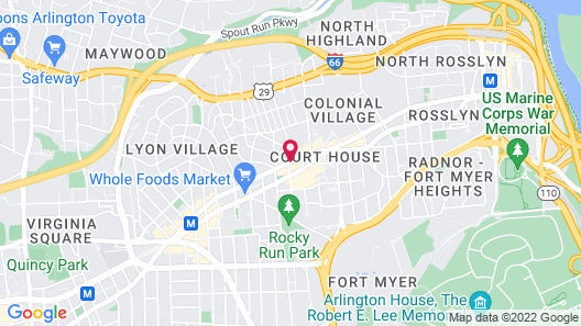 Hyatt Place Arlington/Courthouse Plaza Map