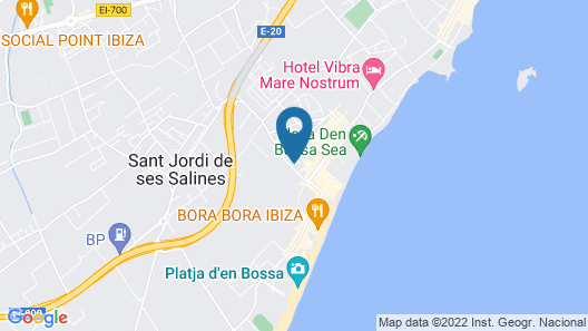 Hotel Playasol Bossa Flow - Adults Only Map