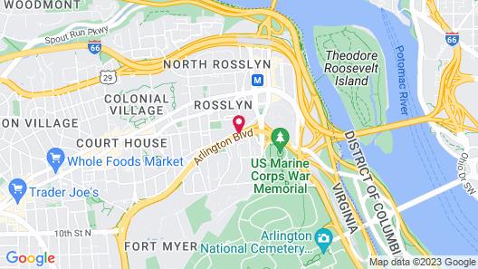 Red Lion Hotel Rosslyn Iwo Jima Map
