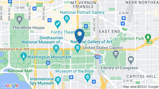 Bluebird Suites in Penn Quarter Map