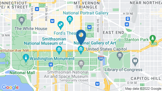 Global Luxury Suites at the National Mall Map