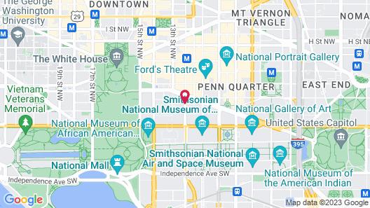 Trump International Hotel Washington DC Map