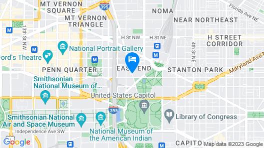 Hyatt Regency Washington on Capitol Hill Map