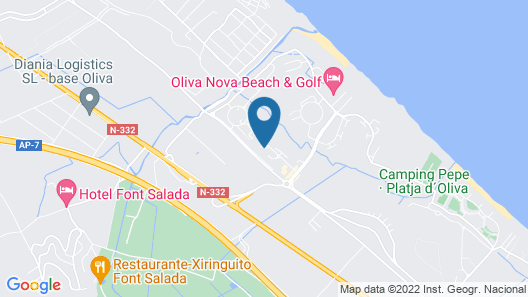Large and Comfortable Holiday House in Oliva, on the Costa Blanca, Spain for 8 Persons Map
