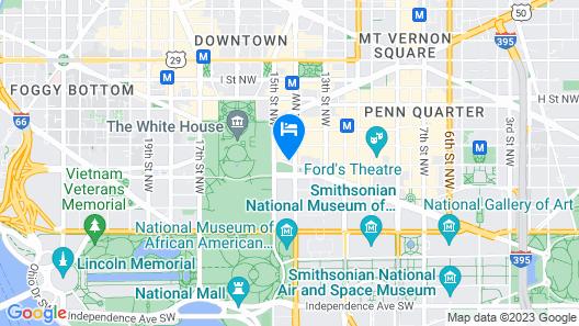 Willard InterContinental Washington Map
