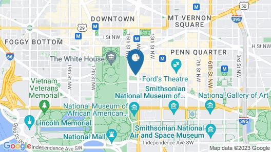 Willard InterContinental Washington, an IHG Hotel Map