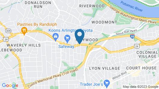 Inns Of Virginia - Arlington Map