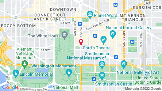 JW Marriott Washington DC Map
