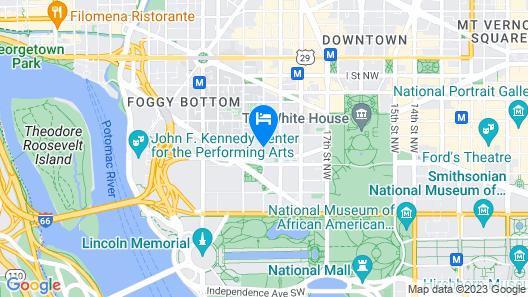 Courtyard by Marriott Washington, DC/Foggy Bottom Map