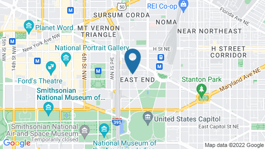 Hilton Washington DC Capitol Hill Map