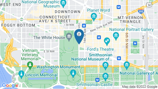 W Washington D.C. Map